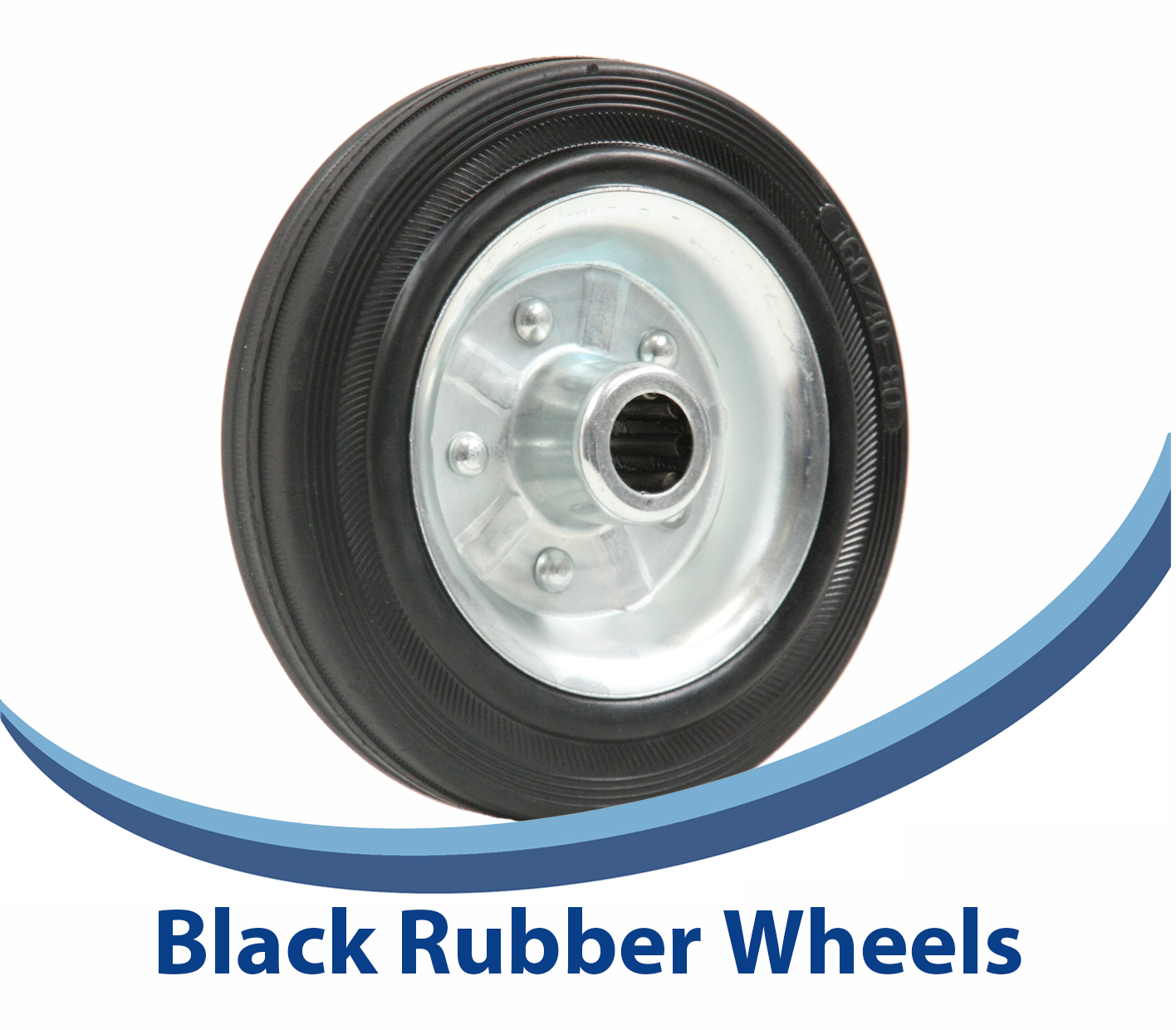 Black Rubber Steel centre Wheels