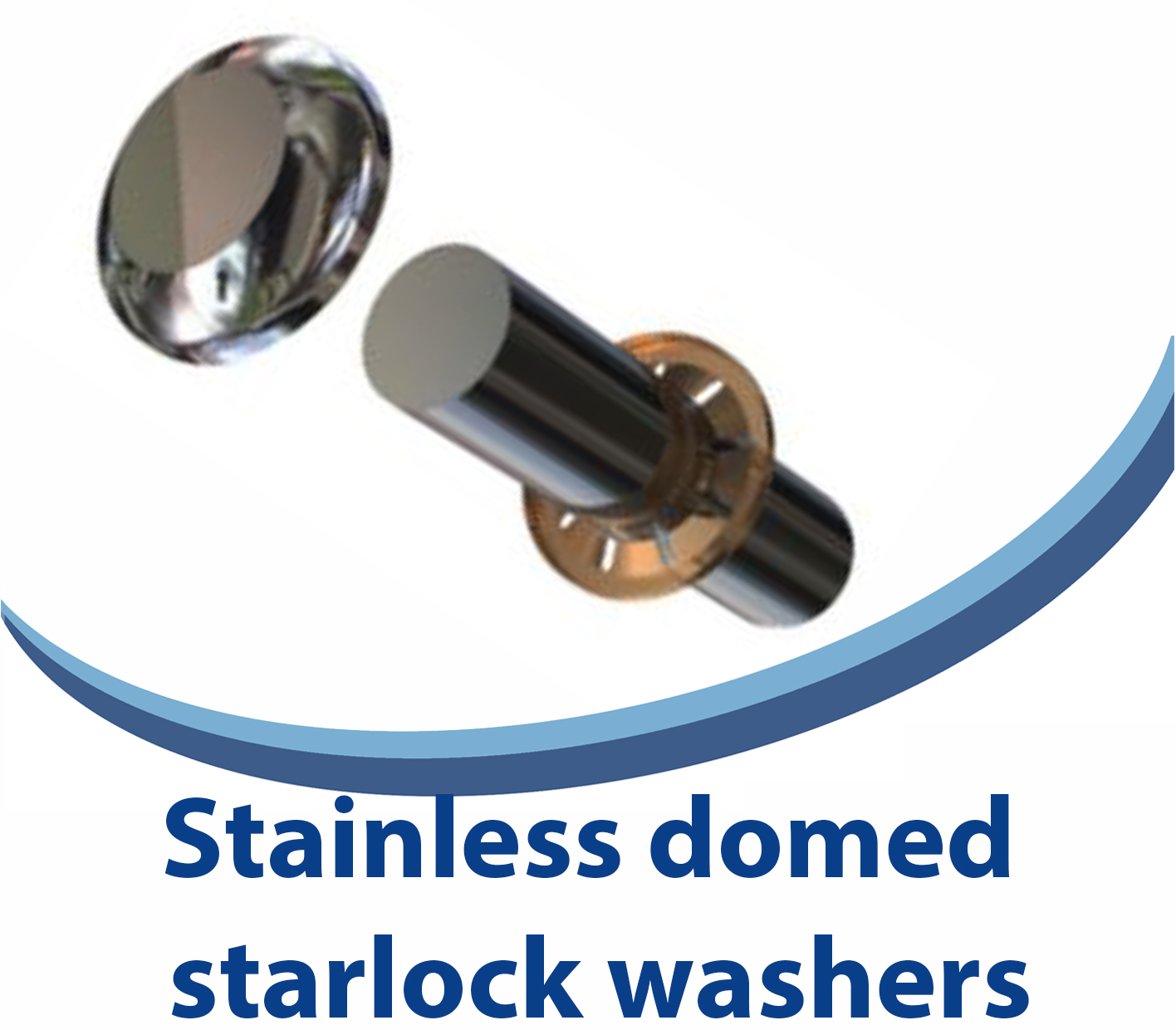 Stainless domed starlock washers