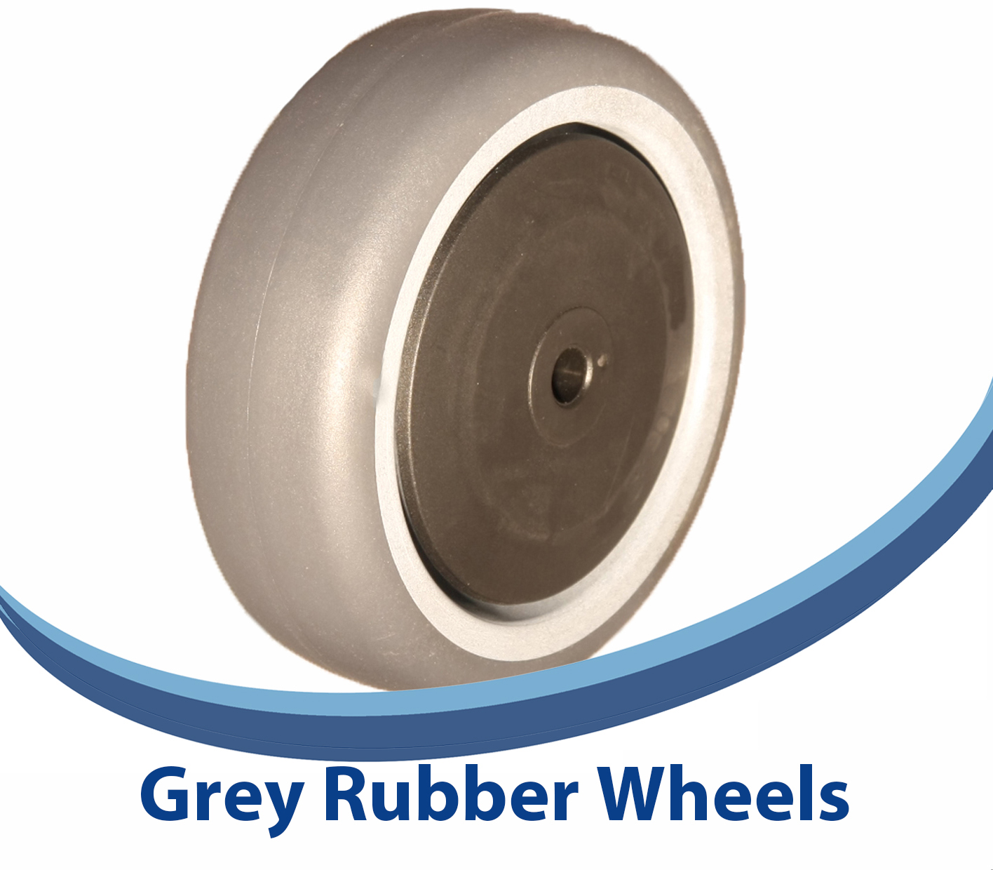 Grey Rubber Wheels